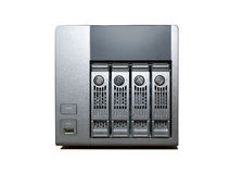 4 bay NAS Drive isolated on white Royalty Free Stock Photos
