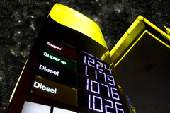 4 bensinpriser Arkivbild