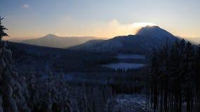 4 berg inget stormigt Royaltyfri Foto