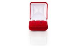 4 biżuterii pudełkowata czerwień Obrazy Stock
