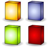 4 Blank Box Covers Clip Art royalty free stock photo
