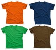 4 blanka skjortor t Arkivbilder