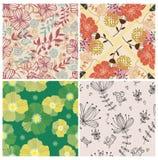 4 bloem naadloos patroon royalty-vrije illustratie