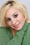 4 blondynki piękny headshot Zdjęcia Royalty Free