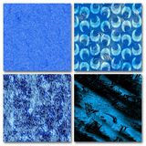 4 Blue abstract composition. SET, 4 abstract composition, blue color Royalty Free Stock Images