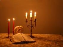 4 bożego narodzenia przy świecach Fotografia Royalty Free