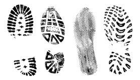 4 bootprints ΙΙ Στοκ φωτογραφίες με δικαίωμα ελεύθερης χρήσης