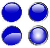 4 botones azules con clase stock de ilustración