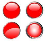 4 botones rojos con clase libre illustration