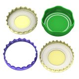 4  bottle lids Stock Image