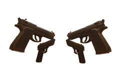 4 Brown Guns Stock Photos