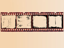 4 células de la película de Grunge ilustración del vector