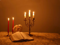 4 candlelightjul Royaltyfri Fotografi