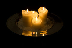 4 candles Royalty Free Stock Images
