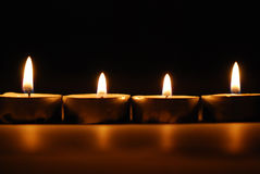 4 candles. In a number (good it is precise Stock Photography