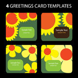 4 cartoline d'auguri Illustrazione di Stock