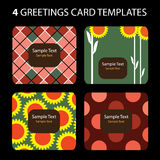 4 cartoline d'auguri Illustrazione Vettoriale