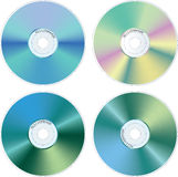 4-CD-r Royalty-vrije Stock Foto's