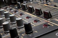 4-channel professional dj sound mixer Stock Photos