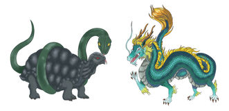 Free 4 Chinese Mythical Creature Gods Set 2 - Turtle An Royalty Free Stock Photos - 30609948