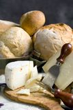 4 chlebów sera. Zdjęcia Royalty Free