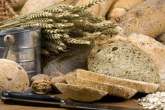 4 chlebów ziarna Obrazy Stock