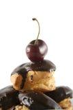 4 chokladprofiteroles Royaltyfria Bilder