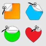 4 ciseaux de positionnements Image libre de droits