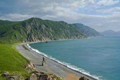 4 cloudscape海岸 免版税库存图片