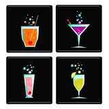 4 cocktails Stock Photos