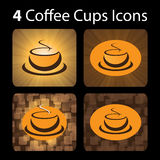 4 Coffee Cup Icons Royalty Free Stock Photos