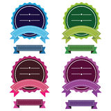 4 Color Badges Royalty Free Stock Image