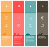 4 color flat design stripes template Royalty Free Stock Photos