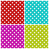 4 colored diagonal lines seamless pattern Stock Photos