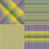 4 Colored sets of patterns. With line Royalty Free Stock Photo