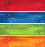 4 Colorful banner. Vector bubble  colorful shiny banner Royalty Free Stock Photo