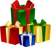 4 colorful Presents royalty free illustration