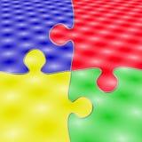 4 colorfull pieces puzzle Στοκ φωτογραφίες με δικαίωμα ελεύθερης χρήσης