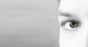 4 colorise eye (it) Royalty Free Stock Image