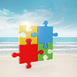 4 colors puzzle Royalty Free Stock Photos