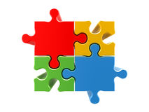 4 colors puzzle concept Royalty Free Stock Photo