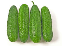 4 cucumbers Royalty Free Stock Images