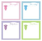4 Cute Baby Shower Invitation Card Royalty Free Stock Photography