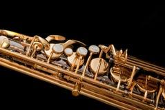 4 czarnej saksofon serii Zdjęcia Stock