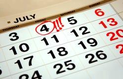 4 dag självständighet juli USA Arkivbild