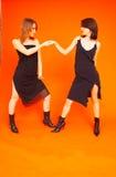 4 dancingowego nastolatków Obrazy Stock
