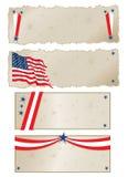 4 de Banners van juli Royalty-vrije Stock Foto