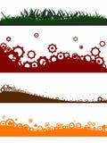 4 de elementen van het landschap vector illustratie