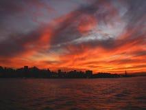 4 de janeiro rio horisont Royaltyfria Foton