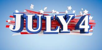 4 de julho Imagens de Stock Royalty Free
